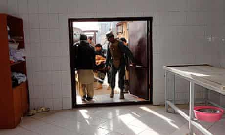 Afghan police in Khost