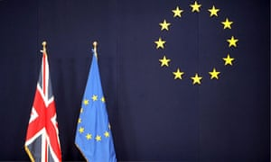 Flags of Britain and EU