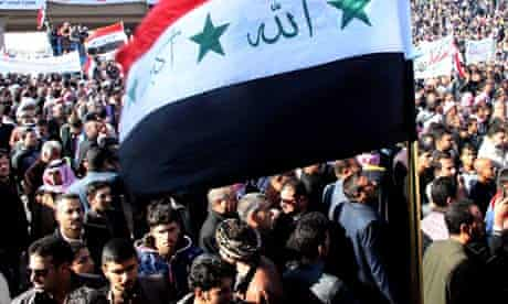 Thousands of Sunni protesters gather in Iraq's Anbar province