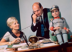 Gerry Anderson: Gerry And Sylvia Anderson wiith model Of Troy Tempest, 1966