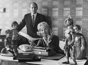 Gerry Anderson: elevision series creators Gerry and Sylvia Anderson , 1967