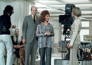 Gerry Anderson: Gerry and Sylvia Anderson on set of 'Space 1999' - 'Earthbound'  1976