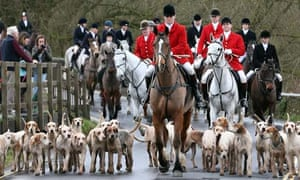 Avon Vale hunt on Boxing Day 2012.
