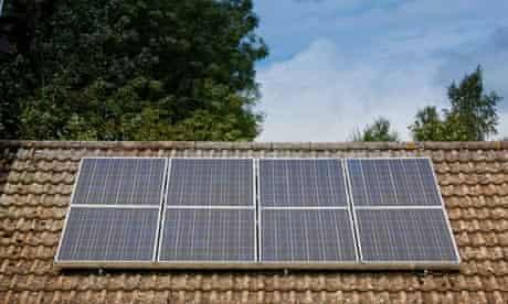 Solar panels on a bungalow