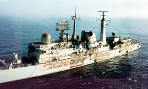 HMS Sheffield was hit by an Exocet missile fired by Argentinian air force