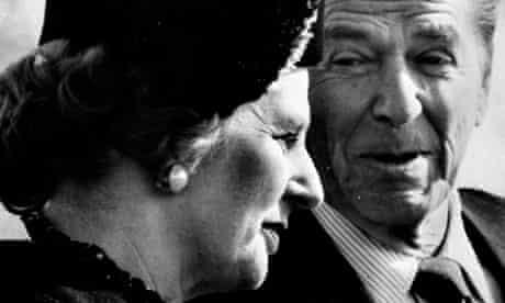 Margaret Thatcher with Ronald Reagan