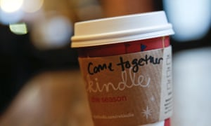 """A cup of coffee with the words """"come together"""" at Starbucks in Washington DC"""