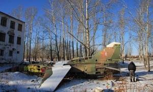 A Soviet-era MiG fighter