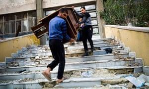 Syrian rebels in Aleppo