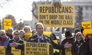 Democratic representative Chris Van Hollen during a press conference on the fiscal cliff
