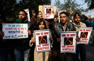 India: Indians hold banners to seek capital punishment for rapists