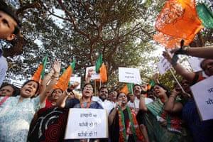 India: Activists from Bharatiya Janta Party (BJP)