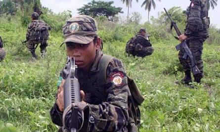 Muslim separatist rebels in Philippines