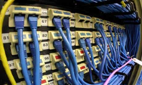 Ethernet cables plugged into dashboard