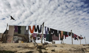 A Bedouin camp the E1 area, between Jerusalem and the Israeli West Bank settlement of Maale Adumim.