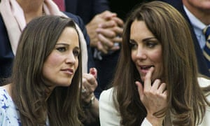 The Duchess of Cambridge and her sister Pippa