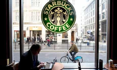 Starbucks coffee shop in Monument, London