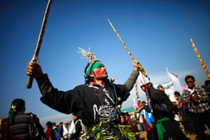 24 hours:  Gurung community men perform a traditional dance