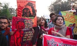 Protests in Kolkata over the death of the Delhi rape victim