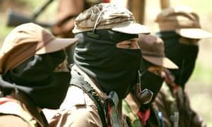 Zapatista leader Subcommander Marcos