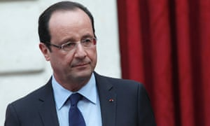 """France's President Francois Hollande gives a speech where he declared """"mission accomplished"""" during a ceremony to honour French troops who return home after serving in Afghanistan, at the Elysee Palace, in Paris, December 21, 2012."""