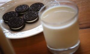 Milk and cookies.