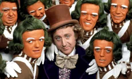 Oompa-Loompas with Willy Wonka in the 1971 film of Charlie and the Chocolate Factory