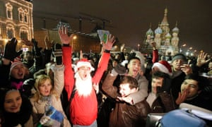 Celebrations in Red Square.