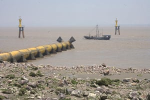 Chemical waste Pollution: from textile industry in The Hangzhou Bay Area , China