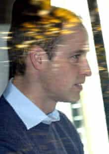 Prince William arrives at the King Edward VII hospital to visit Kate