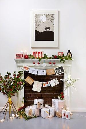 Homes: Christmas: Arrangement of Christmas cards