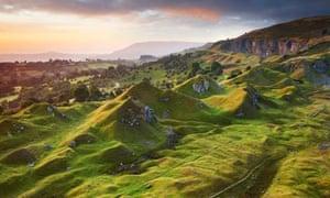 Sunrise over Welsh valleys