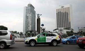 Google Street View car in Jakarta