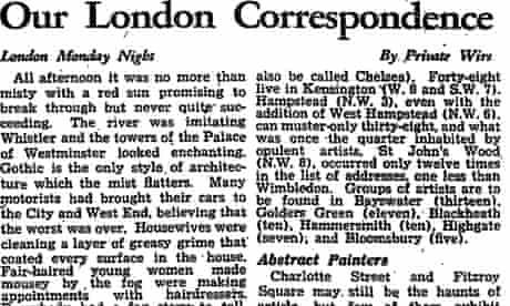 London correspondence on great fog December 1952