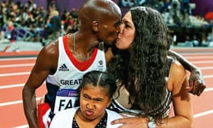 Mo Farah with his family