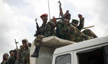 M23 rebels near Goma