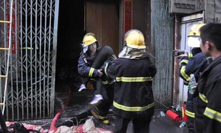 Factory fire, Shantou, Guangdong