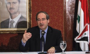 Faisal Mekdad, deputy foreign minister of Syria, speaks during a news conference in Caracas, Venezuela, on 27 November 2012. Mekdad was in  Venezuela during the final stage of his tour through several countries of the region to deliver a message from Syrian President Bashar al-Assad to Venezuelan President Hugo Chavez.