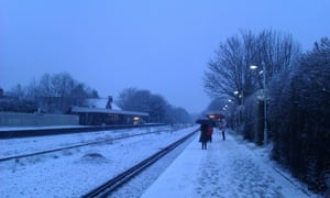 Snowy Cheam in south London