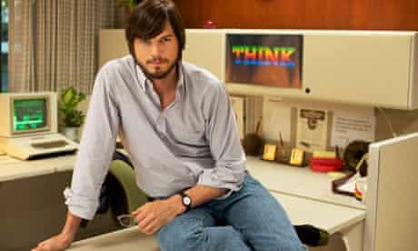Ashton Kutcher as Steve Jobs in Jobs.