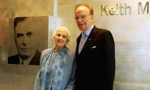 Dame Elisabeth Murdoch with her son Rupert