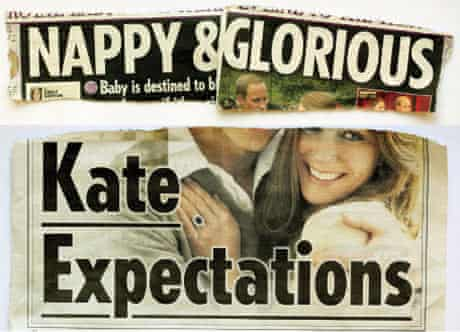 Sun headlines about Kate