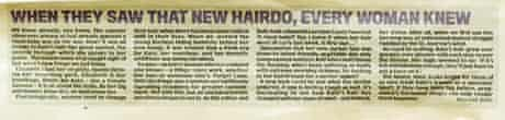 Daily Mail: 'When they saw that new hairdo, every woman knew.'