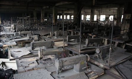 The aftermath of the fire in Dhaka that killed 112 people.