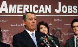 John Boehner under American jobs poster