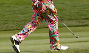 Thai dye? A close-up of US golfer John Daly's trousers during the first round of the Thailand Golf Championship at Amata Spring Country Club, Chonburi province, Thailand.