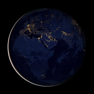 Earth from space: A composite image of Europe, Africa, and the Middle East at night