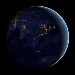 Earth from space: A composite image of Asia and Australia at night