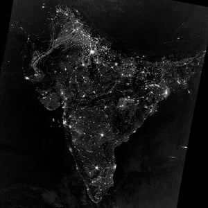 Earth from space: South Asia during Diwali celebrations on the night of 12 November 2012