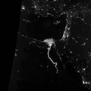 Earth from space: The area near the Nile River valley and delta on 13 October 2012